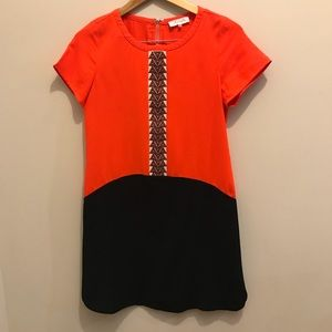 Sugarlips orange and black shift dress